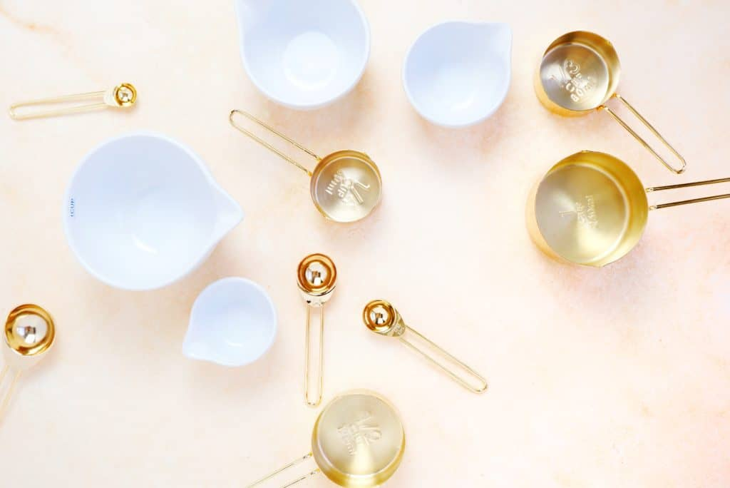 empty measuring cups and bowls for baking