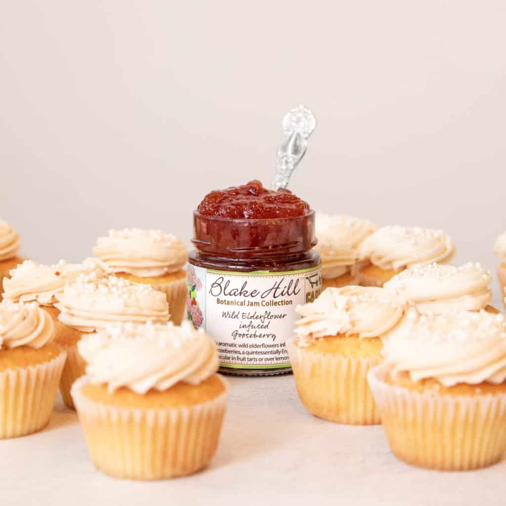 jam-filled vanilla cupcakes