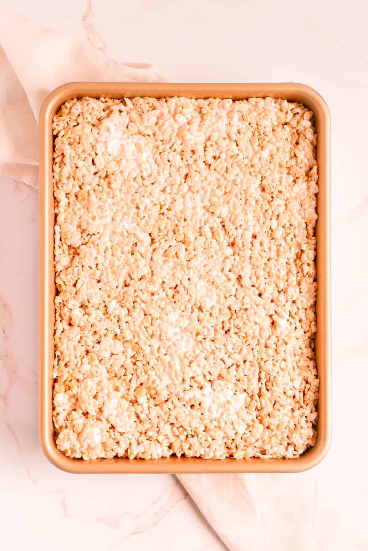 """Brown Butter Rice Krispie Treats in a 9""""x13"""" pan"""