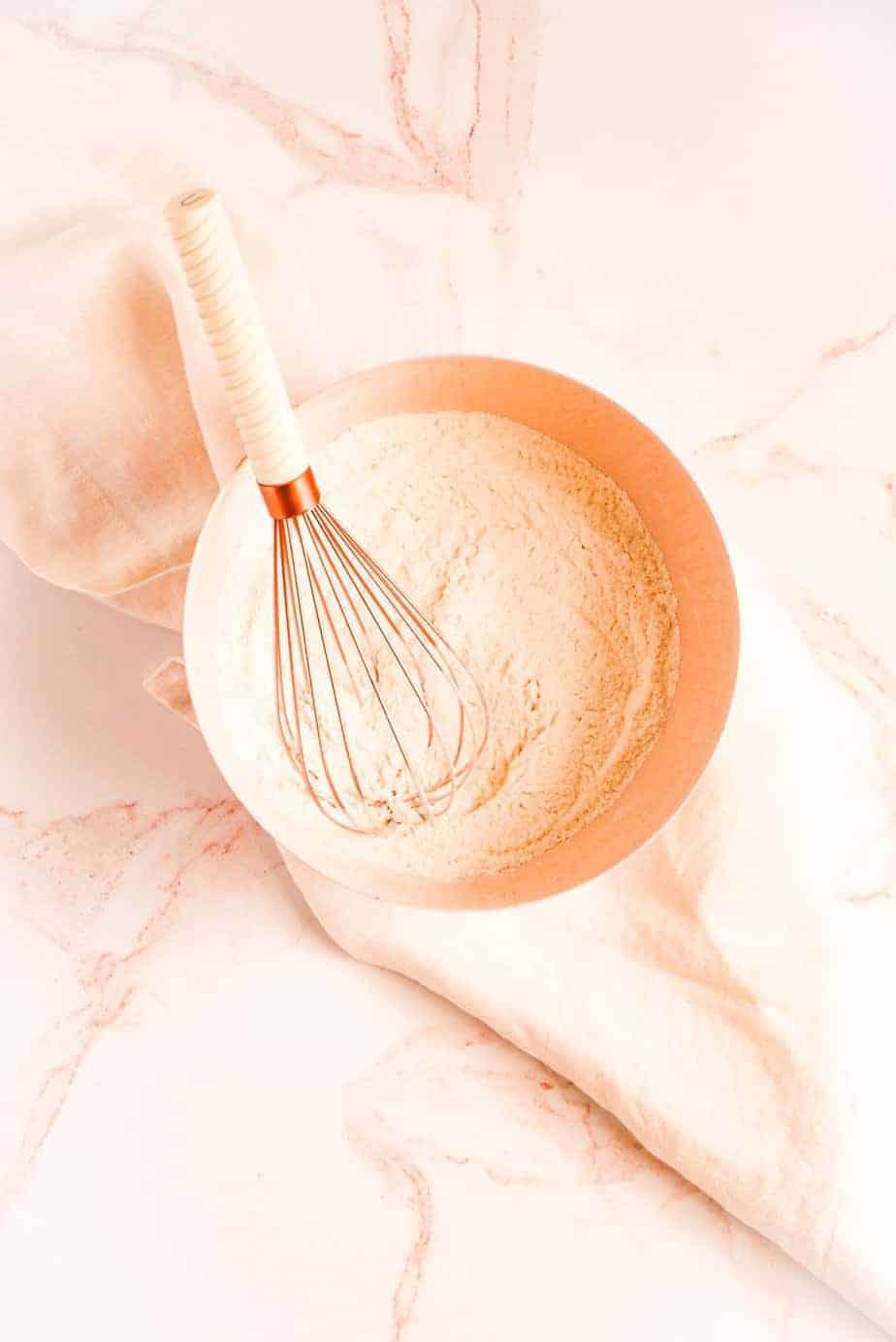 buttermilk pancake dry ingredients in a bowl